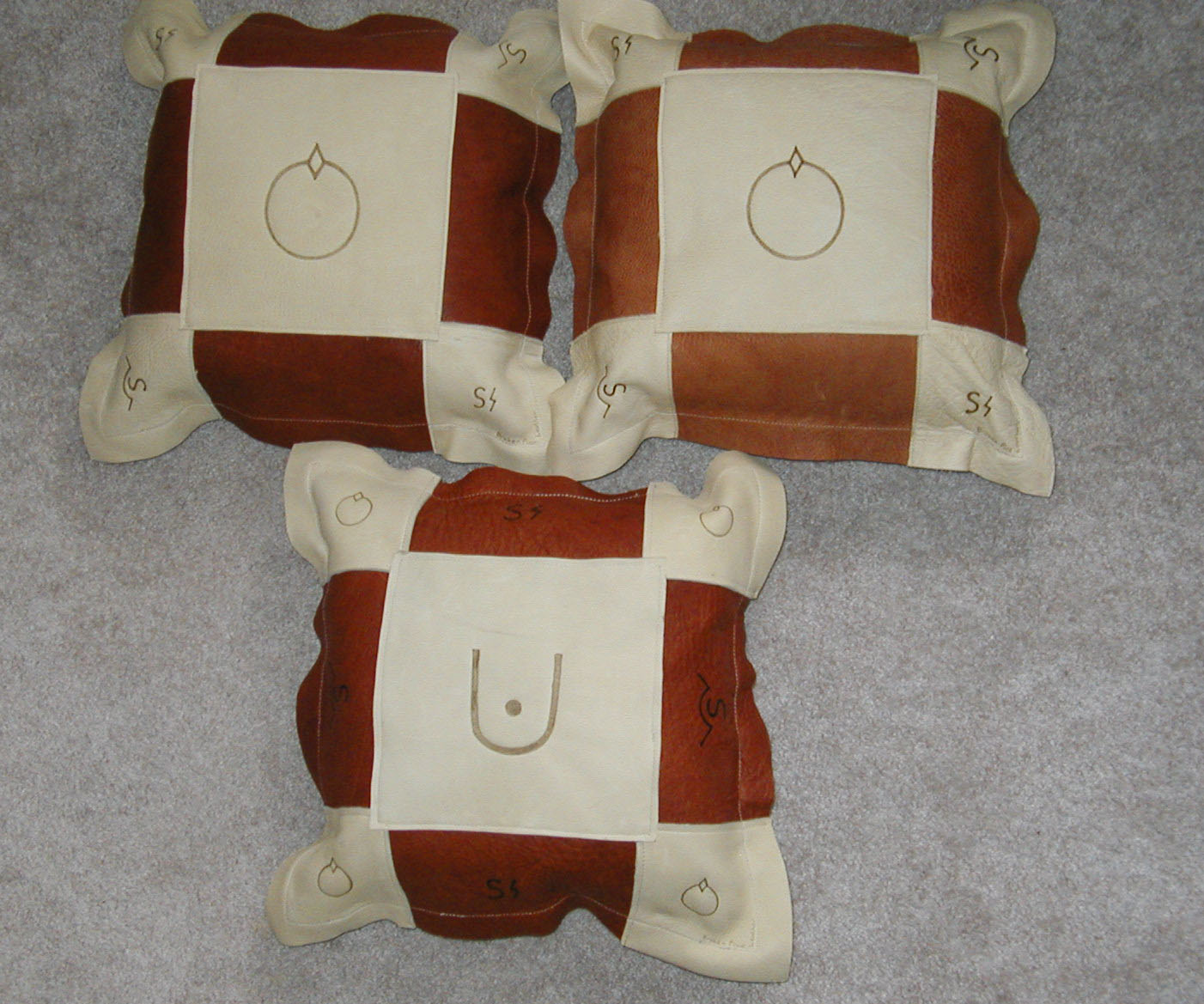 Branded pillows image of three