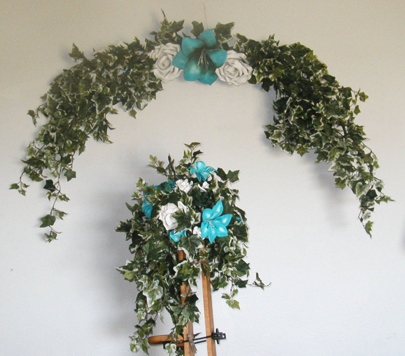 Turquoise bridal arch