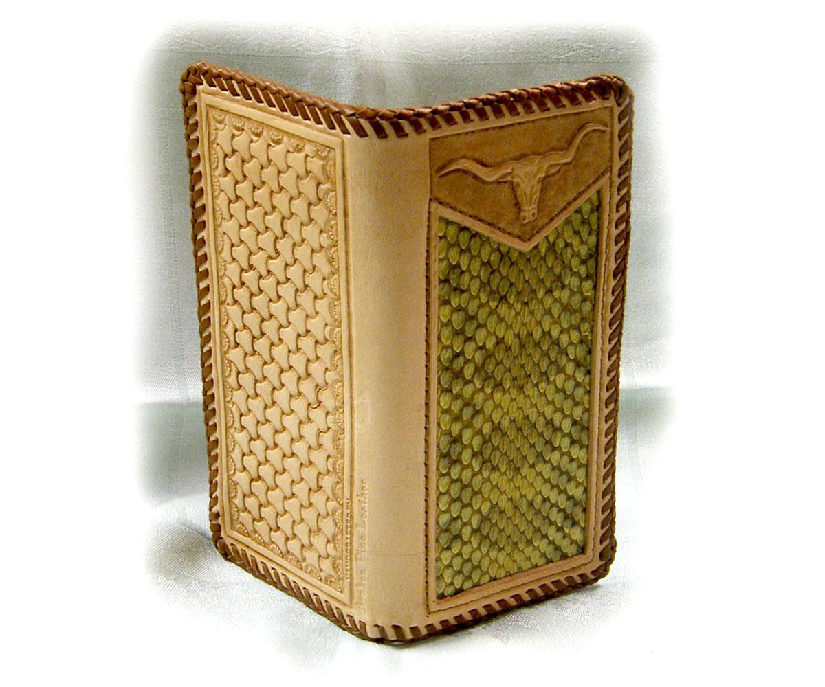 Leather snakeskin billfold image
