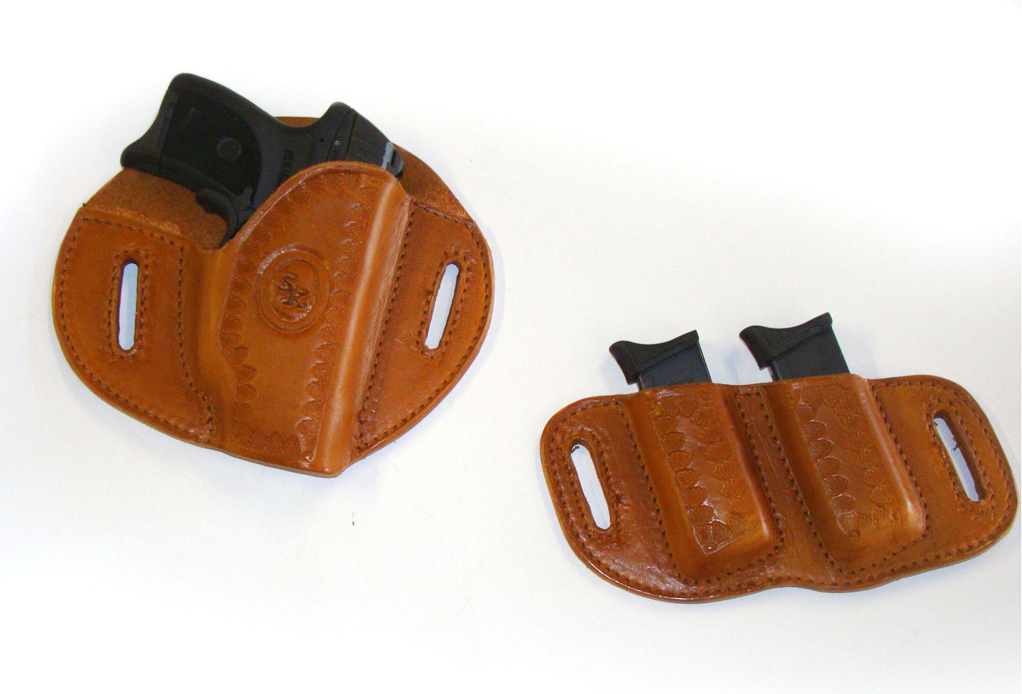 holser and clipps holster on white background